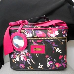 Betsey Johnson FLORAL BOW HARD MAKEUP CASE